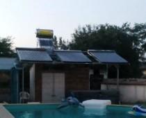 Соларна система за затопляне на басейн с 50 m3 вода